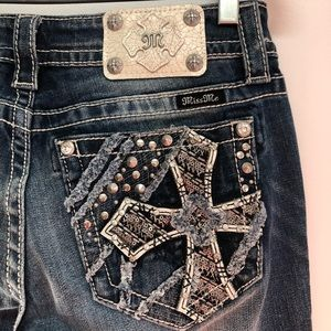 Miss Me Signature Straight faded jeans size 28 NWT